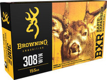 Browning BXC Controlled Expansion 308 Win/7.62 NATO 168gr, Terminal Tip, 20rd/Box