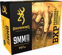 Browning BPX X-Point 9mm 147gr, HP, 20rd Box