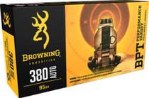 Browning BPT Performance 380 ACP 95gr, FMJ, 50rd/Box
