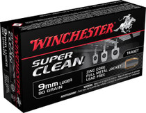 Winchester Super Clean 9mm 90gr, Full Metal Jacket, 50rd/Box