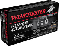 Winchester Super Clean 40 Smith & Wesson 120gr, Full Metal Jacket, 50rd/Box