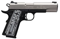 Browning 1911-380 Black Label Pro Single 380 ACP, SS, G10, Night Sights, 8+1rd
