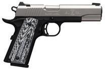 Browning 1911-380 Black Label Pro Single 380 ACP, SS, G10, Night Sights, 8+1rd