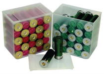 "MTM Shell Stack Holds 25 Loaded 2.75"" 12 Ga Shotshells Clear Sold in 4-Packs"