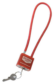 """Birchwood Casey Fifteen"""" Cable Lock With Two Keys Red"""