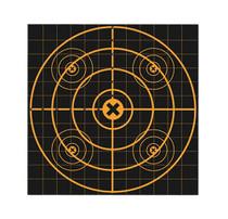 "Birchwood Casey Big Burst 12"" Sight-In Bullseye Self-Adhesive 25 Pack"