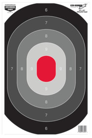 Birchwood Casey Eze-Scorer Oval Silhouette Paper Target 23x35 Inches 5 Per Package