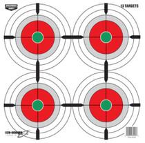 """Birchwood Casey Eze-Scorer Multiple Bullseyes Paper Target Four Per Sheet 12"""" 13 Sheets Per Package"""