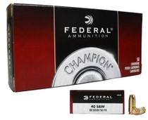 Federal Champion 40 SW 180gr, FMJ, 50rd Box