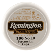 Remington #10 Percussion Caps Black Powder Brass 100 BX/ 50 C