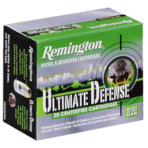 Remington Ultimate Defense Full-Sized Handgun 40 S&W, BJ Hollow Point, 165gr, 20rd/Box