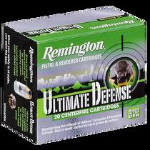 Remington Ultimate Defense Full-Sized Handgun 40 S&W, BJ Hollow Point, 165gr, 20rd Box