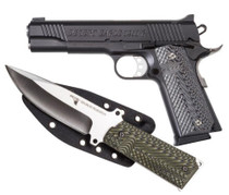 "Desert Eagle 1911 Pistol/Knife Combo 45 ACP 5"" Barrel 8rd Mag Plus 1911 Fixed Blade Knife, Sheath"