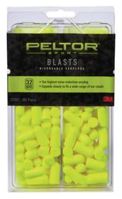 3M Peltor Blasts Disposable Earplugs 32 dB Yellow 80 Pair