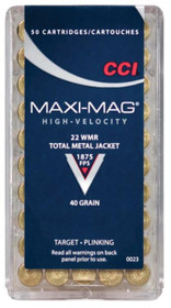 CCI Select 22 Win Mag Total Metal Jacket 40gr, 50rd/Box