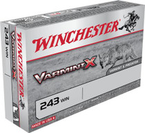 Winchester Varmint X 243 Winchester 50gr, Lead-Free 20rd Box