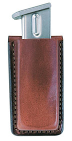 "Bianchi 20A Open Mag Pouch Belts up to 1.75"" Tan Leather"