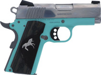 "Colt 1911 Defender Compact 9MM 3"" Barrel Robin Egg Blue Frame SS Slide 8rd Mag - 1 of 300"