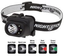 Nightstick Multi-Function Headlamp 150/80/100/9/18 Lumens AAA (3) Blac