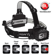 Nightstick Dual Light Multi Function Headlamp 100/90/20/18 Lumens AA (