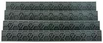 Hexmag WedgeLok Rail Cover KeyMod 7 Slots Polymer Black 4 Pack