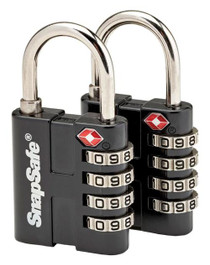 Snap Safe TSA Padlocks Combination Lock Black