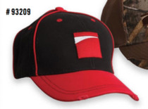 Benelli Red On Blk Distressed Hat Black Universal Size