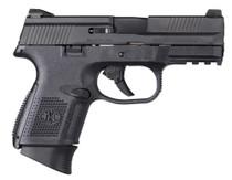 "FN FNS 9mm, 3.6"" Barrel, 10rd, Interchangeable Backstrap, Black"