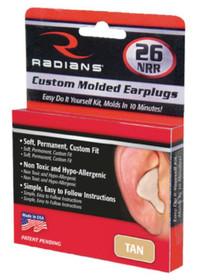 Radians Sporting Goods Custom Molded Earplugs, Tan