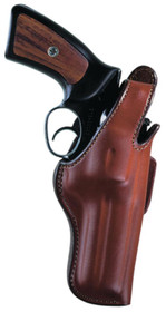"Bianchi 5BHL Thumbsnap Suede Lined Holster 6"" Barrel Medium-Large Revolvers Plain Tan Right Hand"
