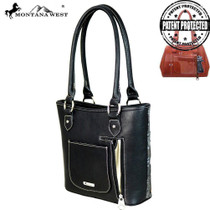 Montana West Buckel Collection Concealed Handgun Tote, Black#2