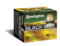 Remington Golden Saber Black Belt 9mm 124gr, Jacketed Hollow Point 20rd Box