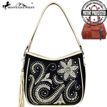 Montana West Concho Collection, Concealed Handgun Collection Hobo - Black