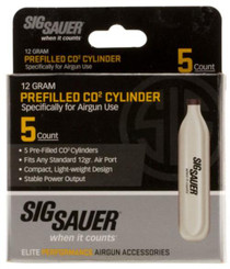 Sig Sauer Airguns CO2 5 Pack 12 gram