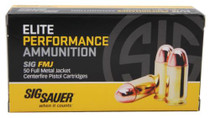 Sig Ammo Elite Performance .357 Sig 125 Grain Full Metal Jacket 50rd/Box