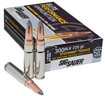 Sig Ammo Hunting 300 Blackout/Whisper 205gr, Open Tip 20rd Box