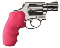 Hogue Laser Enhanced Grip S&W J Frame Rubber Monogrip Pink Red Laser