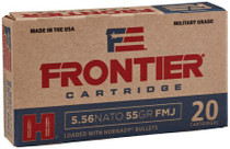 Hornady Frontier 5.56mm, 55gr, Full Metal Jacket, M193, 20rd/box