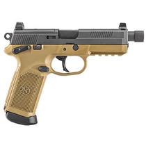 """FN FNX 45 Tactical, 45 ACP, 5.3"""" TB, 15rd, NS, Flat Dark Earth Frame"""