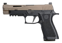 "Sig P320 X-VTAC 9MM 4.7"" Barrel Flat Dark Earth, Night Sights 17rd Mags"