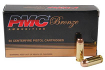 PMC Bronze 10mm 200 Gr, Truncated Cone, FMJ, 50rd Box 20 Box/Case