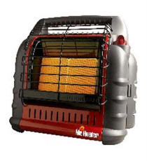 Mr. Heater Big Buddy Heater Heats 400 sqft 18,000 BTU/hr Green/Red, MH18B