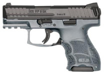 "HK VP9SK Subcompact 9mm, 3.39"", 10rd, Grey Frame, Black Slide"