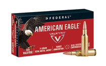 Federal American Eagle .224 Valkyrie 75gr, Total Metal Jacket 20rd Box