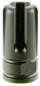 "Advanced Armament Blackout Flash Hider Blackout 9mm Aerospace Alloy .75""-"