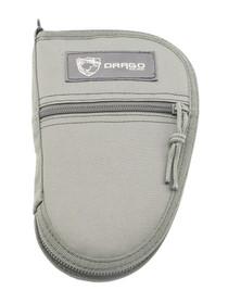 """Drago Gear Pistol Case SEAL Gray 9.5"""" Pistol Rug 600D Polyester"""