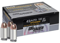 Sig Ammo 45 ACP 185Gr Elite V-Crown JHP 20rd Box