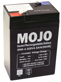 Mojo UB645 Rechargeable Battery 6V Sealed Lead-acid Power Pack