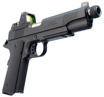 "Ed Brown Special Forces SR Single 45 ACP 5"" Threaded Barrel, NS/Red Dot Black Polymer Grip Black Gen4, 7rd"