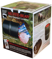UDAP No-Fed-Bear Food Container Bear Resistant Black/Red